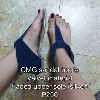 CMG velvet sandals