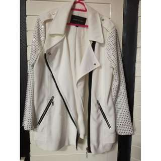 readystock River Island white long sleeve diamond studded party jacket top cardigan blazer