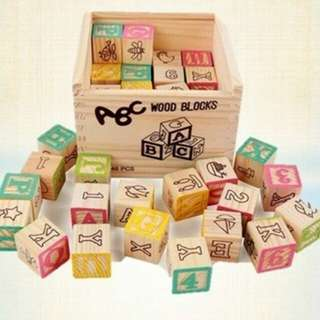 ABC 48pcs Wood Block Set