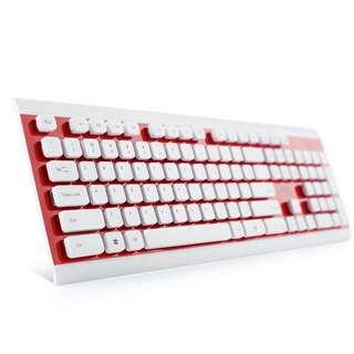 (淘寶$30優惠券)愛國者 可水洗有線鍵盤 防水家用辦公電腦筆記本台式USB遊戲鍵盤