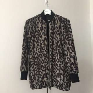 Wilfred Free Laboratoire leopard coat