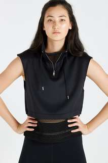 Cotton On Black Luxe Tunnel Cropped Vest