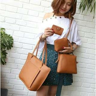 4in1 korean bag sling bag tote bag