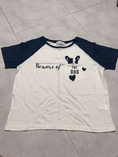 Brand new short sleeves women the dog top