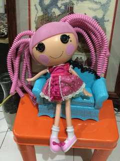 "Lalaloopsy Silly Hair 11"" free doll chair"