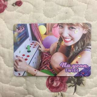 Nayeon Twice yes card