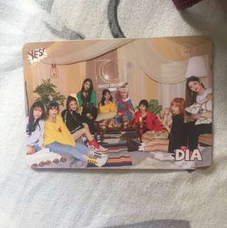 DIA yes card