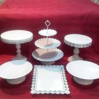 Rent: Cake stand and dessert tray