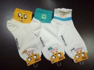 Adventure Time 9 Sock (3 for $10.00)