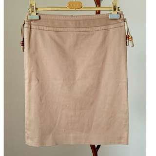 Authentic Gucci skirt with bamboo tassels