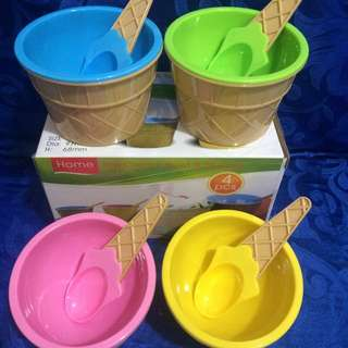 Ice cream bowls&spoons