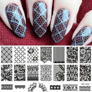BORN PRETTY Nail Stamping Template Butterfly Flower Series Manicure DIY Image Plate Nail Art Decoration Accessory