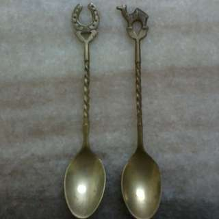 Vintage brass tea spoon