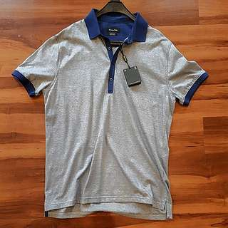 Massimo Dutti Polo Men Grey/Blue