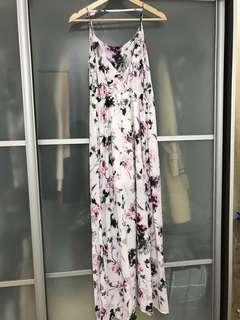 Floral Maxi Dress (S Size)