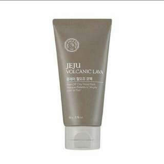 THE FACESHOP JEJU VOLCANIC LAVA PEEL OF CLAY NOSE MASK.