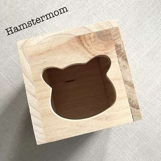 Wooden Syrian Hamster Hideout House Toy