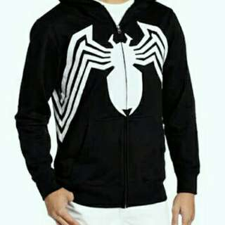 Jaket Superhero Spiderman Black Venom Hoodie