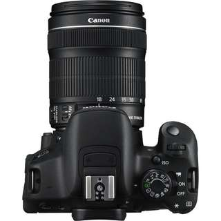 canon eos 700d camera + 18-135mm lens