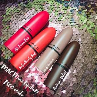 MAC Mini Lipsticks