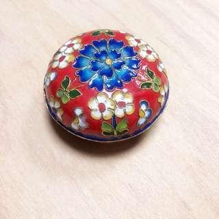 日本和式珐瑯飾品收納圓小盒