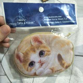 Henry cats and friends cute Cat coin pouch