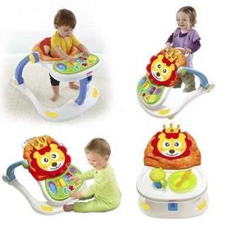 4-in-1 Multifunctional Entertainer Lion Baby Walker