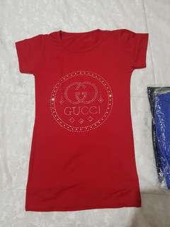 T-shirt gucci tinggal 4 warna