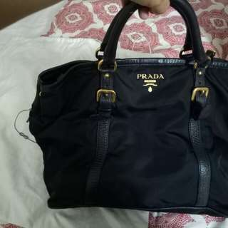 Authentic Nylon Prada with strap
