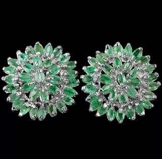 CLASSIC GENUINE emerald earrings