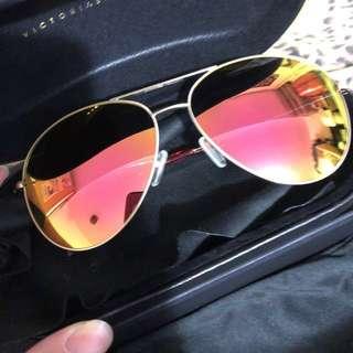 Victoria beckham 粉金色太陽眼鏡