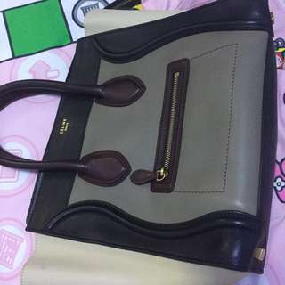 Celine Tri Color Luggage Bag