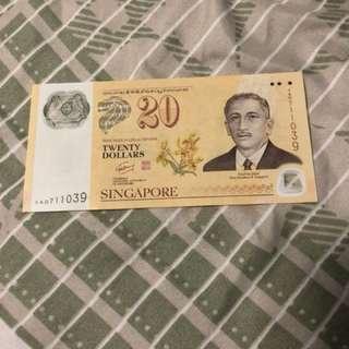SG/Brunei $20