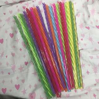 Reusable Large Plastic Straws