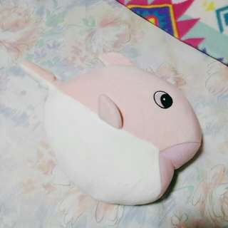 miniso fish stuffed toy (pink)