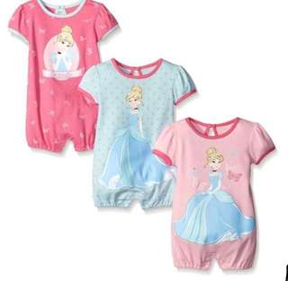 *9M* Brand New Disney Cinderella Rompers For Baby Girl