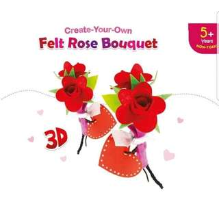 Felt rose bouquet