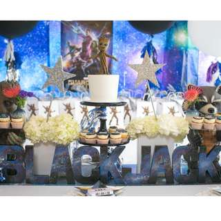 Guardians of the Galaxy-- Themed Birthday Party (Party Supplies) Pls CHAT with us for the detailed/specific product listing & price.. We Have wide range of stocks pre printed & personalized printables…