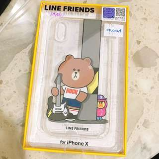 IPhone X Case 電話殼 - LINE 熊大 (Bought from studio A)