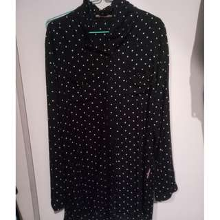 baju polkadot hitam #umn2018