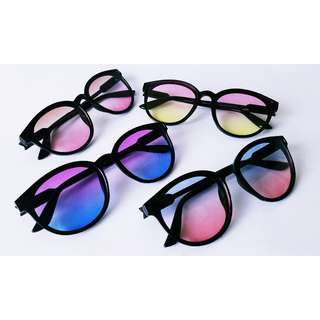 SKY 2 TONE SUNGLASSES (BLUE/PINK)