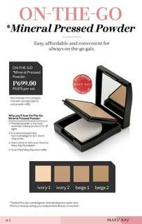 Mary kay on the go pressed powder - on hand