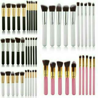 10pcs Kabuki Professional Makeup Brush Set