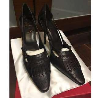 全新正品 Roger Vivier (RV) 深啡色高踭鞋 (35.5號) Authentic RV Dark Brown Pumps/Shoes