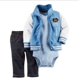 *9M* Brand New Carter's 3-Piece Little Jacket Set For Baby Boy