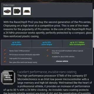 Racechip Pro 2 for Mercedes citan Vito vclass 2014 above Volkwagen Touran diesel