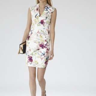 Reiss floral fitted dress