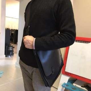 Agnes B leather suitcase bag 真皮袋 公事包