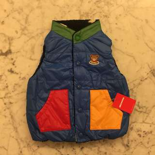 Mikihouse reversible vest