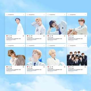 BTS INSTA TRANSPARENT CARDS